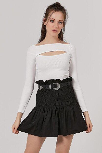 Pattaya Kadın Göğüs Dekolteli Uzun Kollu Bluz Y20w145-sa072