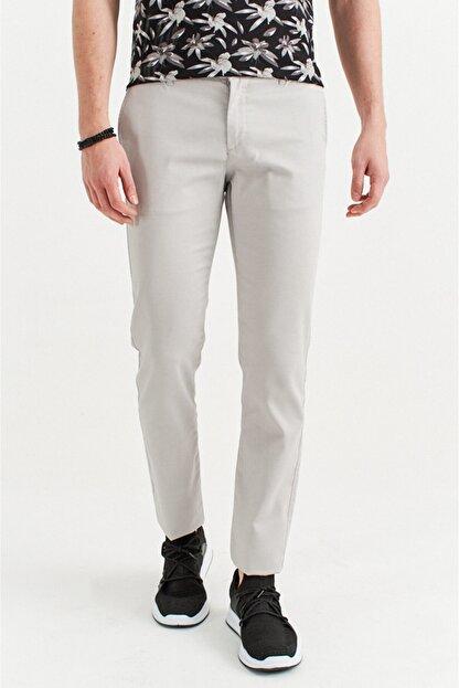 Avva Erkek Açık Gri Yandan Cepli Armürlü Slim Fit Pantolon A01s3081