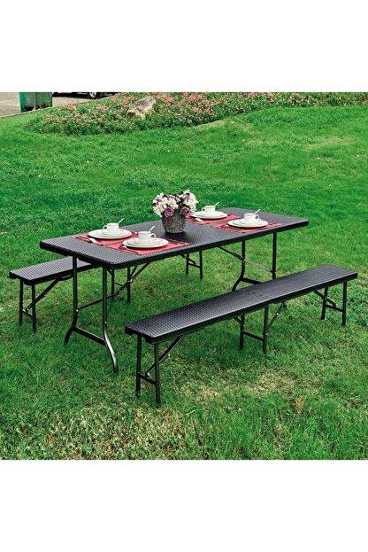Sunfun Katlanır Masa Ve Bank Piknik Seti, Piknik Masası, Piknik Bankı, Bahçe Masa