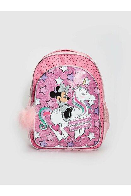 LC Waikiki Minnie Mouse Kız Çocuk Pembe Baskılı Lt4 Okul Çantası