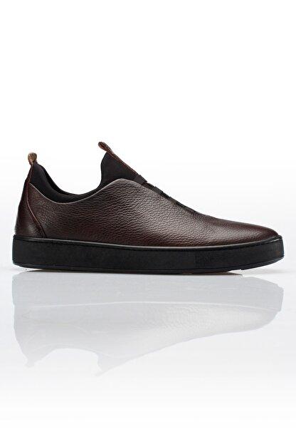 Alba Kahve Hakiki Deri Günlük Erkek Ayakkabı