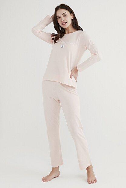 Penti Kadın Pembe Base Offline Pijama Takımı