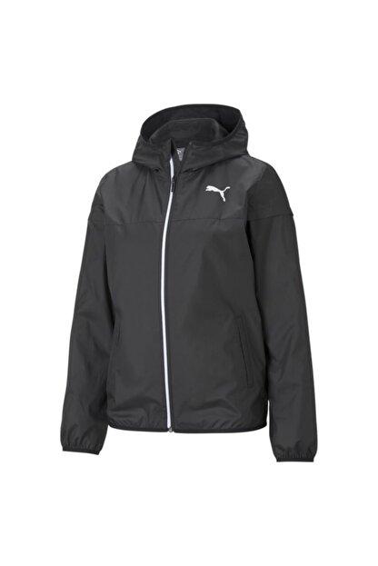 Puma Kadın Rüzgarlık Siyah Essentials Solid Windbreaker Black