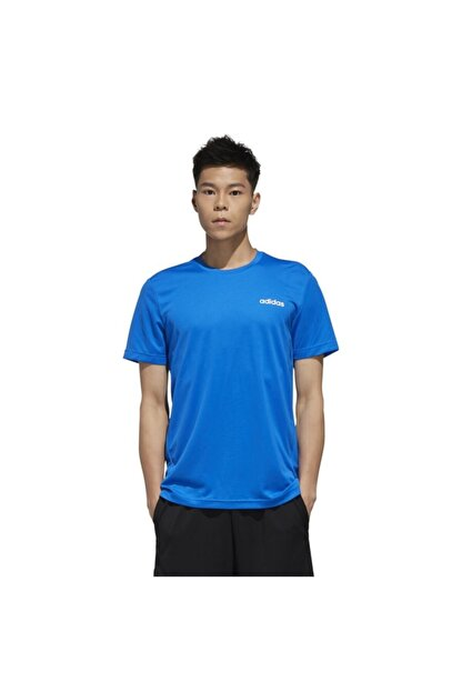 adidas Erkek Mavi Beyaz  M D2m Pl Tee Tişört