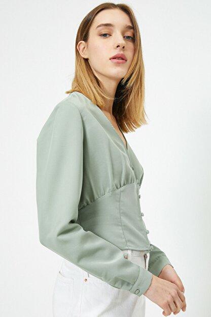 Koton Kadın Su Yeşili Bluz 0KAL68861IW