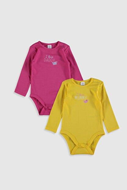 LC Waikiki Kız Bebek Sarı Ftt Bebek Body & Zıbın