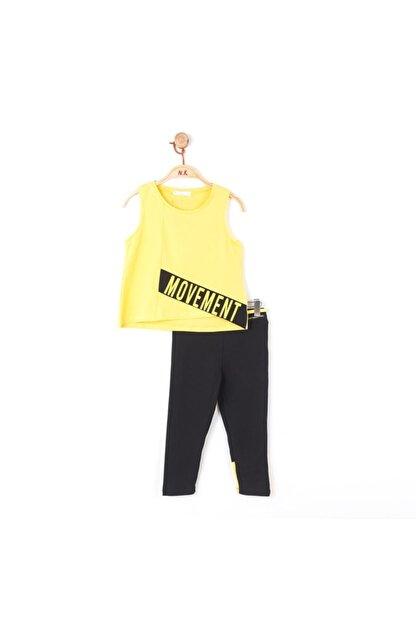 Nk Kids Kız Çocuk Sarı-Siyah  Taytlı Takım