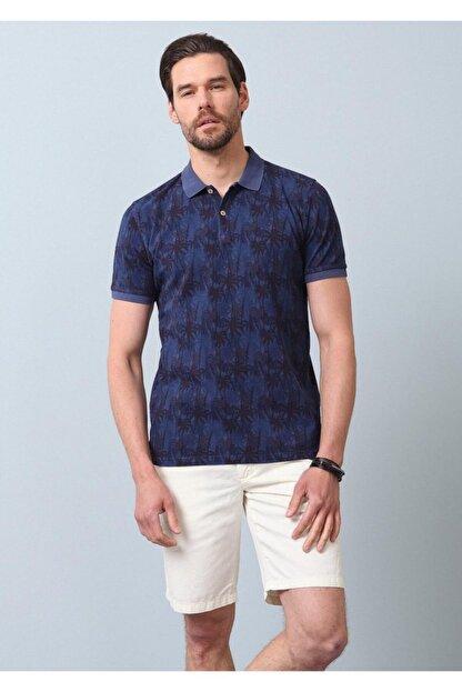 Ramsey Erkek İndigo Düz Örme T - Shirt RP10120074