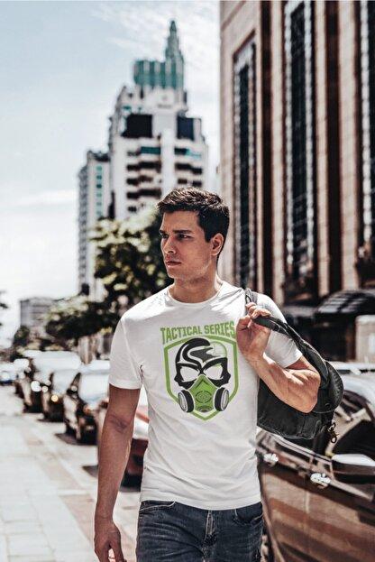 SCUBAPROMO Tactical Series Beyaz Erkek Tişört
