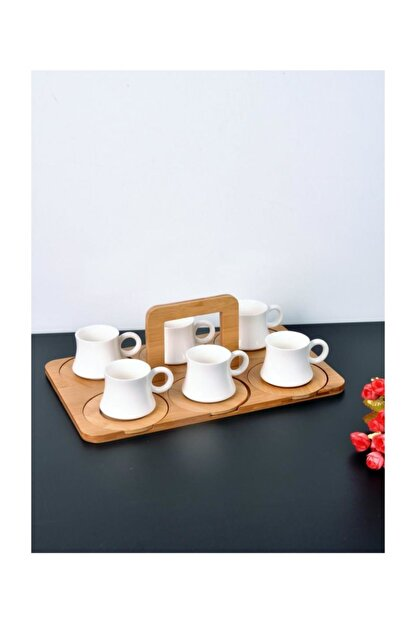 Paçi Bambu Standlı 6'lı Kahve Fincanı