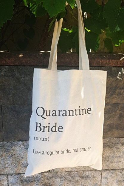 PEKSHOP Quarantine Bride Bez Kol Çantası