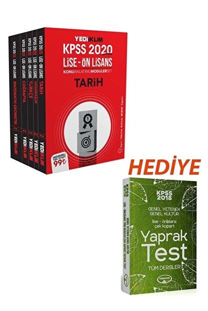 Yediiklim Yayınları 2020 Kpss Lise Ve Önlisans Gy-gk Konu Anlatımlı Modüler Set+hediye-lise/önlisans Çek Kopart