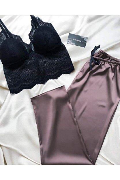Pembishomewear Mürdüm Relax Pijama Takımı