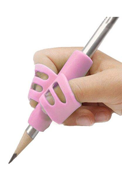 Aksh Pencil Grip Kolay Kalem Tutamağı Kavrama Yazı Yazma Tutuş Düzeltme Yardımcı Pembe