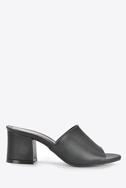 Vizon Ayakkabı Kadın Siyah Terlik Vzn20-087