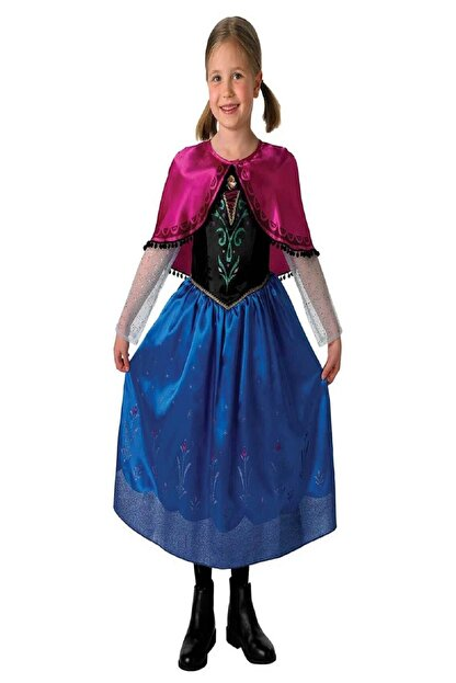 THE PARTY STORE Kız Çocuk Frozen Anna Lisanslı Kostüm