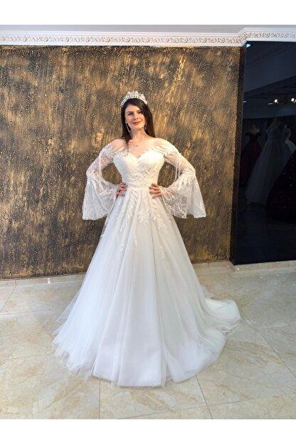 Womentic Bridal Kol Işlemeli Gelinlik