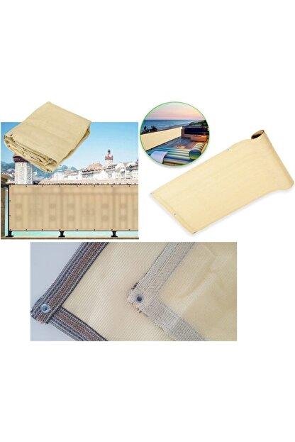 Asenya Balkon Bezi Balkon Brandası 0,50x8 m Krem Gölgelik File Balkon Demiri Örtüsü Balkon Korkuluğu Örtüsü