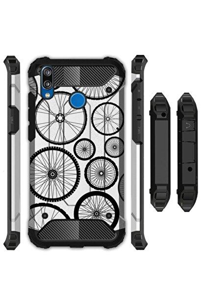 cupcase Xiaomi Mi Play Kılıf Desenli Sert Korumalı Zırh Tank Kapak Pedal Bisiklet