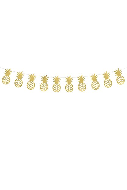 KullanAt Market Altın Ananas Kağıt Afiş 1,5 m 1 Adet