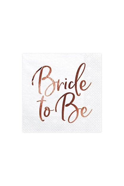 KullanAt Market Bride To Be Rose Gold Baskılı Beyaz Kağıt Peçete 33x33cm 20li
