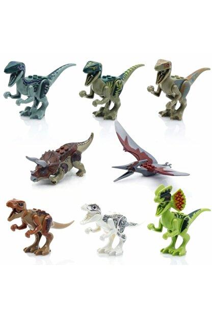 Legoedly 8 Adet Lego Uyumlu Dinozor Seti