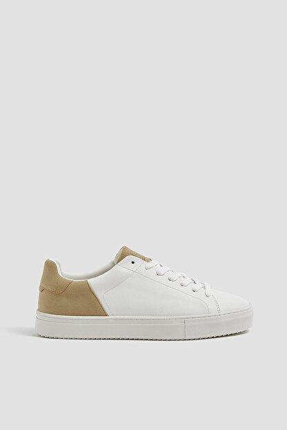 Pull & Bear Erkek Beyaz Kontrast Spor Ayakkabı 12229540