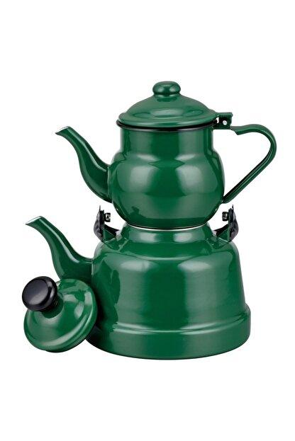 Ebru Emaye Çaydanlık Yeşil