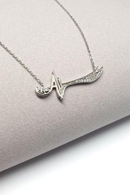 Fabula Silver Ali Yazılı Zülfikar Kılıcı Gümüş Kadın Kolye