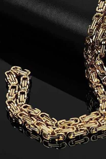 Salyangoz Company Sarı Kalın Kral Çelik Zincir 6mm