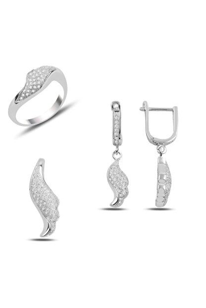 Zuk Collection Gümüş Zirkon Taşlı Set