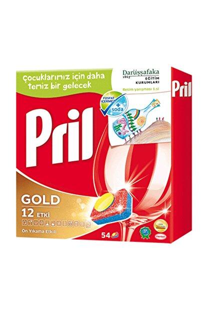 Pril Gold 12 Etki Bulaşık Makinesi Deterjanı 54 Tablet