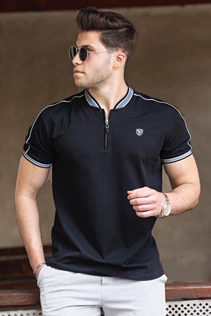 Madmext Erkek Siyah Polo Yaka Tişört 9281