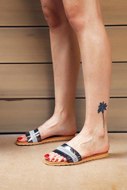 Ayakkabı Modası Platin Taba Kadın Terlik M5003-19-122002R