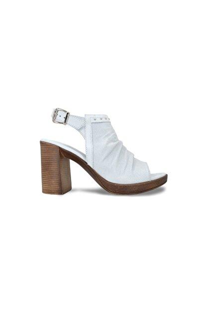 Ortopedia Kadın Sandalet Beyaz Deri - 1441