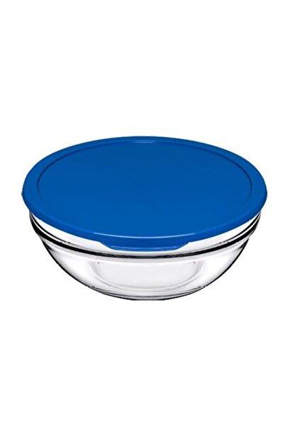 Paşabahçe Saklama Kabı Mavi Plstik Kapaklı 20 Cm 1700 Cc 4 Adet