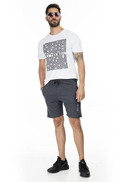 Buratti Erkek Siyah Elestan Cep Belden Bağlama Günlük Spor Slim Fit Short 568R165