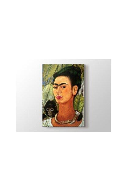 2645 Kitap Yayınları Frida Kahlo - Self Portrait With Monkey 1938 Tablo 60 X 80 Cm