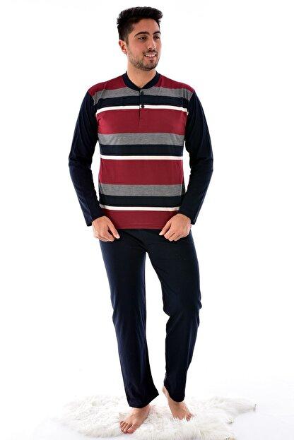 Pemilo Erkek Lacivert  Uzun Kol Süprem Pijama Takımı 920
