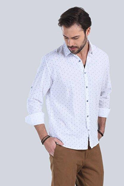 M Store Saks Mavi Uzun Kol Klasik Gömlek 250.04.20179-322