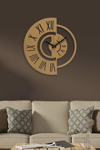 Muyika Design Muyika Routa Gold/eskitme Rengi Metal Duvar Saati 41x41cm