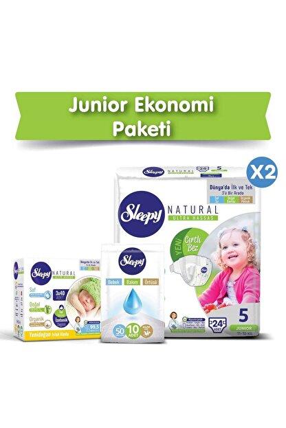 Sleepy Natural Bebek Bezi 5 Numara Junior Ekonomi Paketi