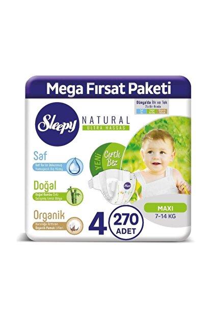 Sleepy Natural Bebek Bezi 4 Numara Maxi 270 Adet