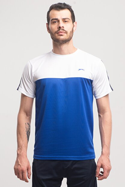 Slazenger Texas Erkek T-shirt Saks Mavi St10te143
