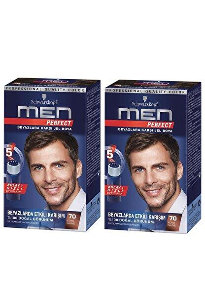 Schwarzkopf Perfect Men 70 Koyu Kahve Saç Boyası X 2 Adet