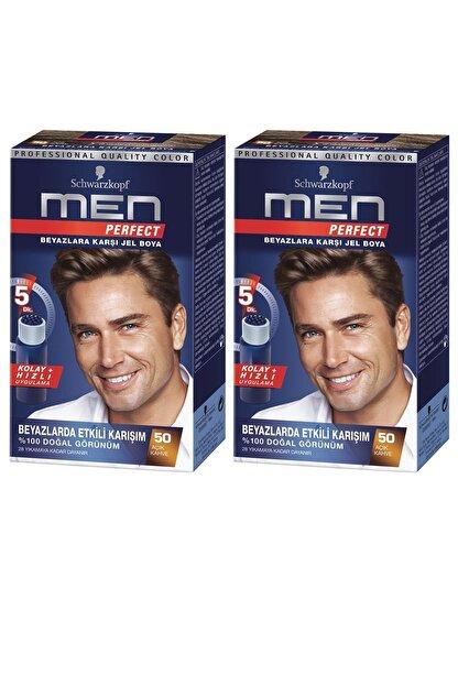 Schwarzkopf Perfect Men 60 Kahve Saç Boyası X 2 Adet