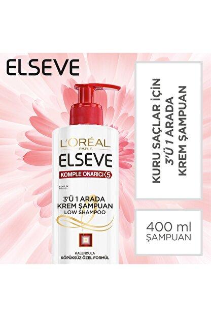 Elseve Komple Onarıcı 5 3'ü 1 Arada Low Shampoo Krem Şampuan 3600523585281