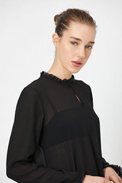 Koton Kadın Siyah Bluz 0YAK66150IW