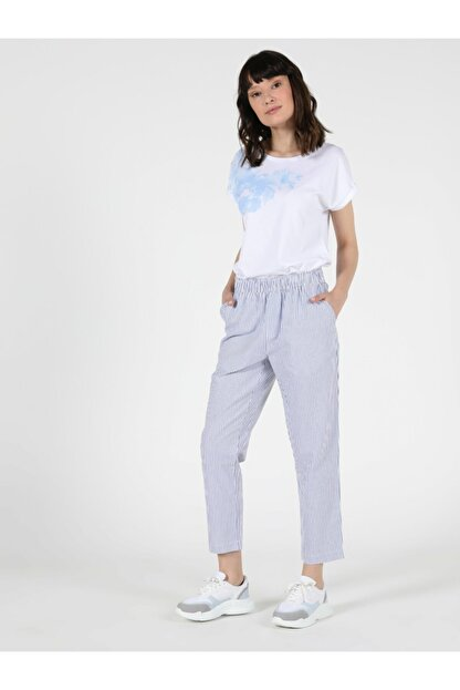 Colin's Regular Fit Yüksek Bel Düz Paça Kadın Mavi Pantolon