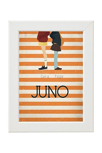 Phi Ajans Juno Poster Baskılı Ahşap Çerçeveli Tablo - Beyaz 30 X 42 Cm